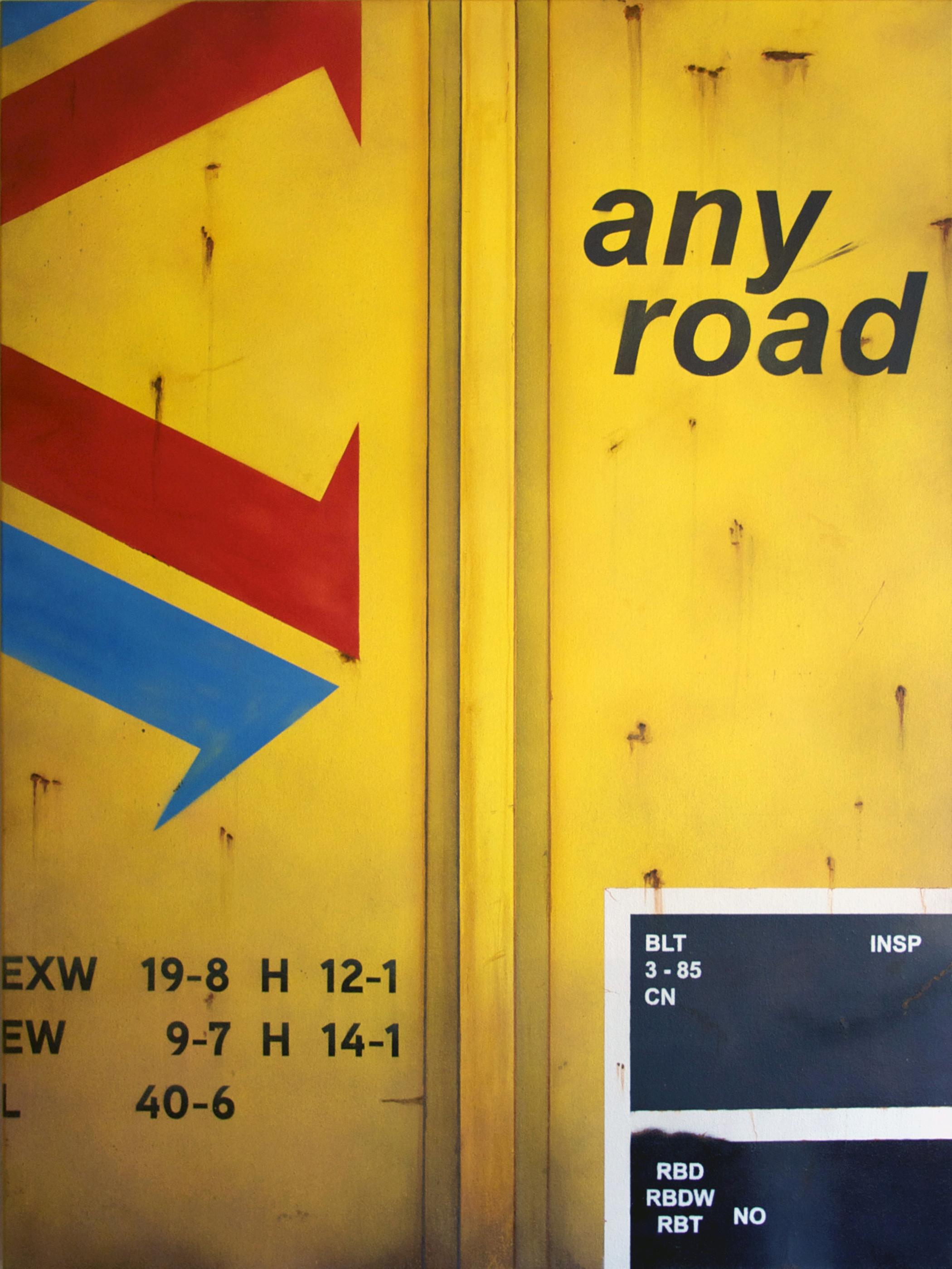 Blank Canvas #11 – RBOX, Freight Train Painting, Boxcar Painting, Railroad Art, Tim Conlon Art