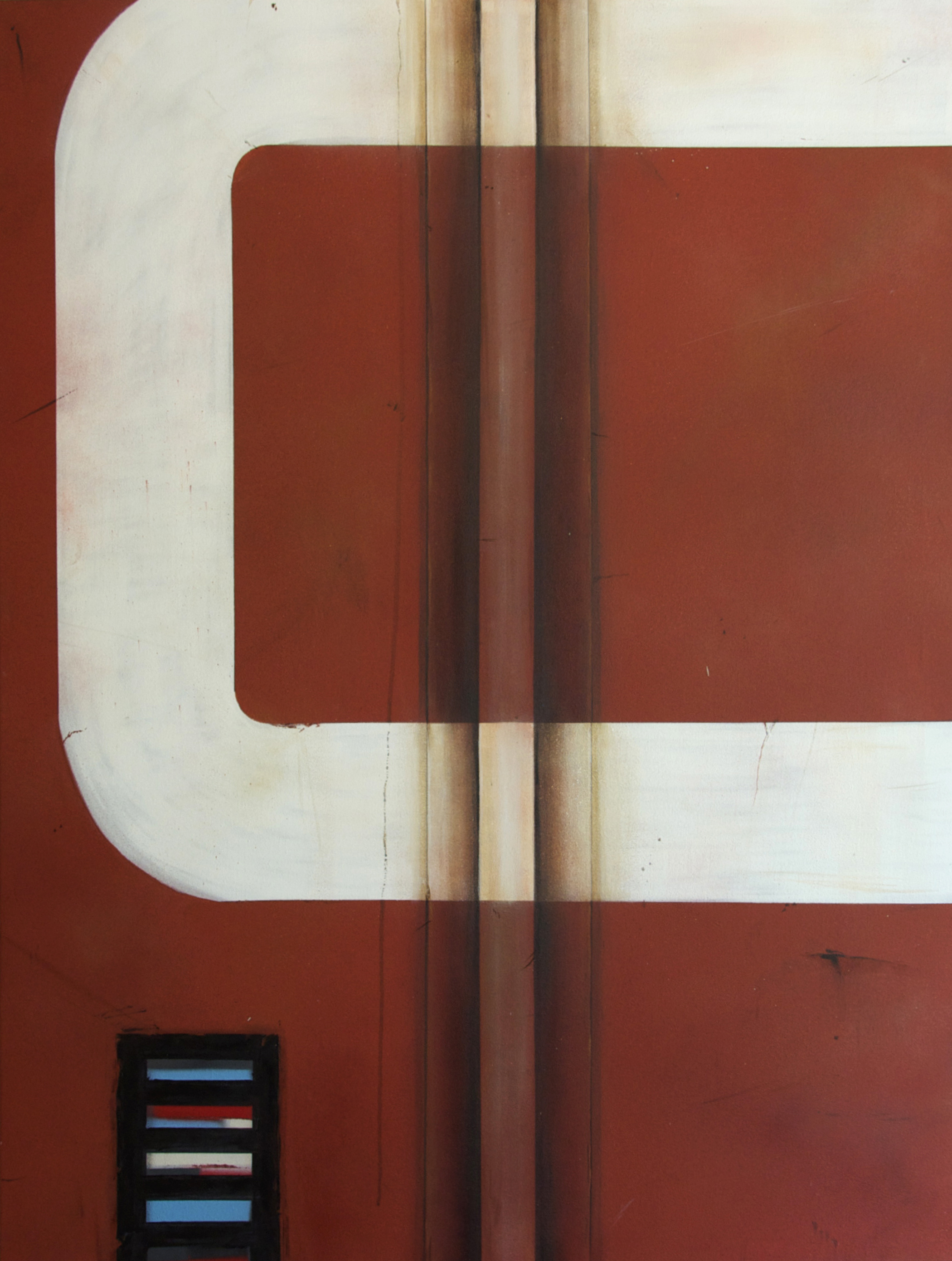 Blank Canvas #9 – CN, Freight Train Painting, Boxcar Painting, Railroad Art, Tim Conlon Art