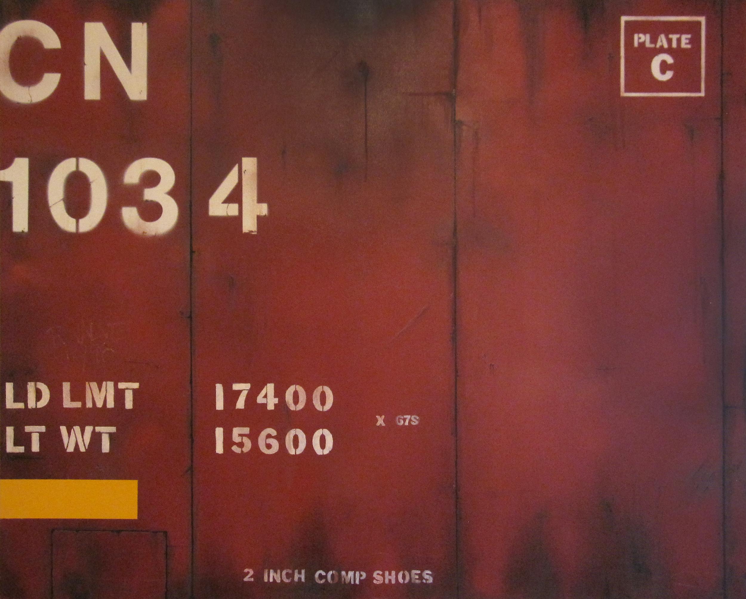 Blank Canvas #1 – CN, Freight Train Painting, Boxcar Painting, Railroad Art, Tim Conlon Art