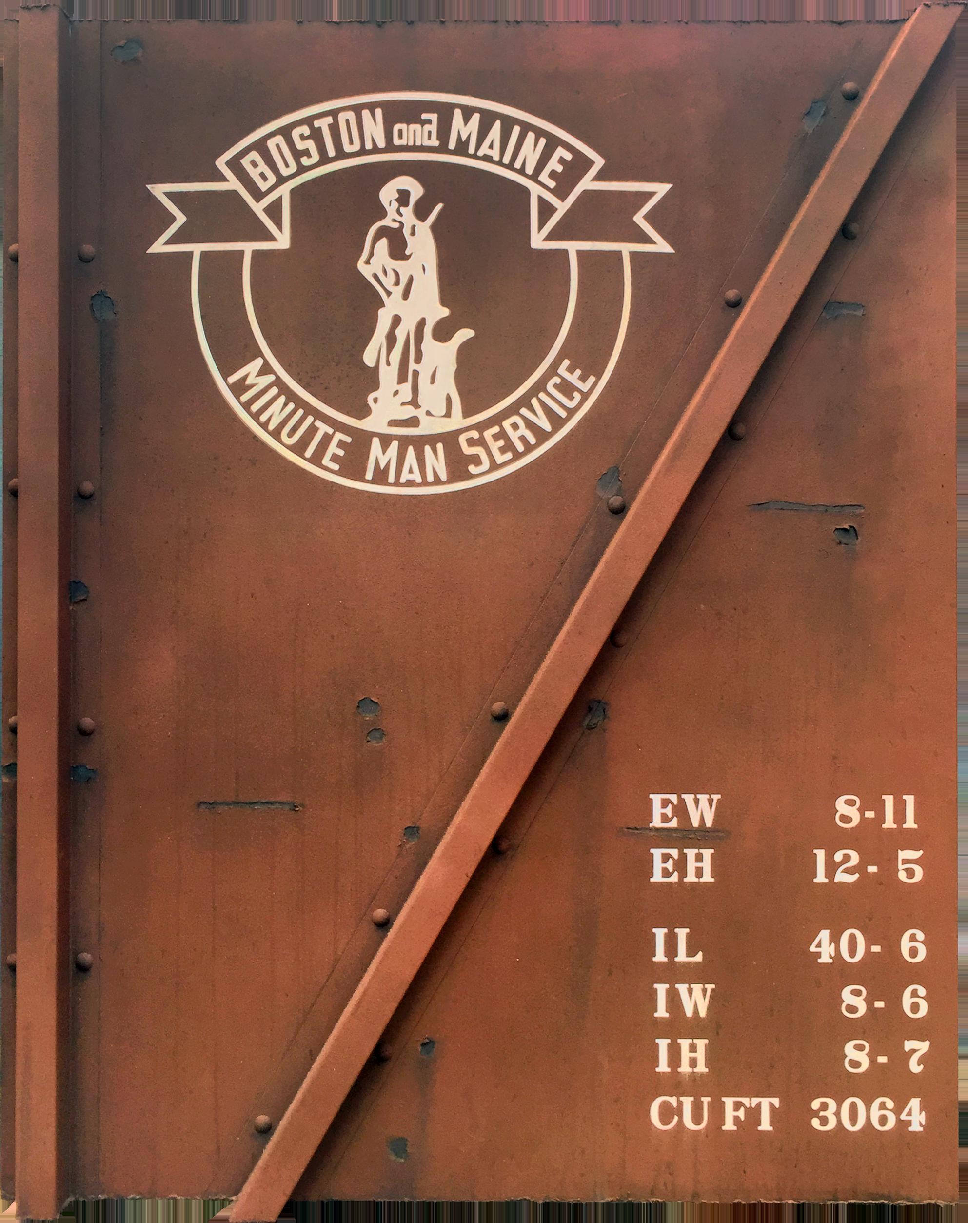 "Blank Canvas #70 - B&M ""Minute Man"", Freight Train Painting, Boxcar Painting, Railroad Art, Tim Conlon Art"