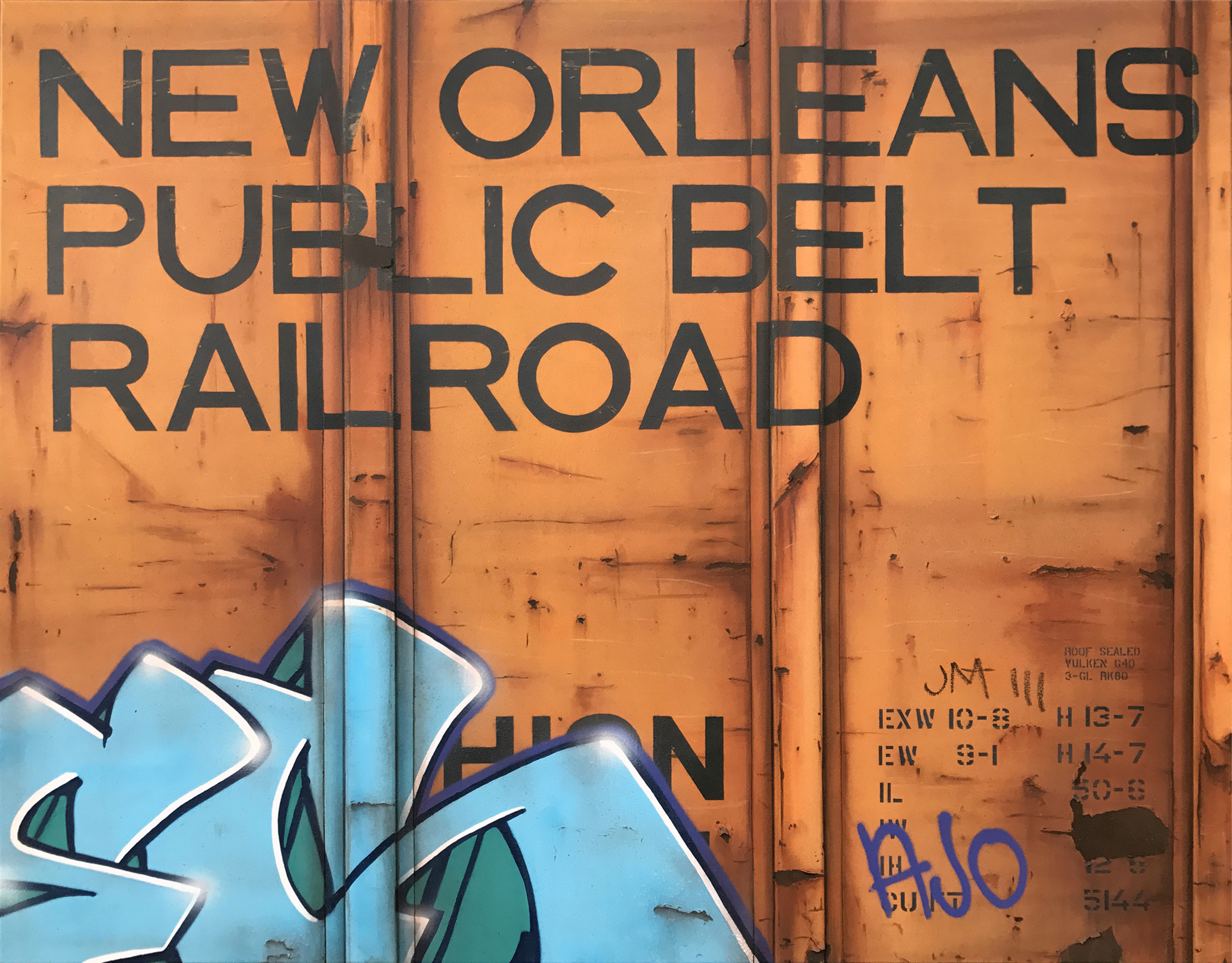 Blank Canvas #73 - NOPB, Freight Train Painting, Boxcar Painting, Railroad Art, Tim Conlon Art