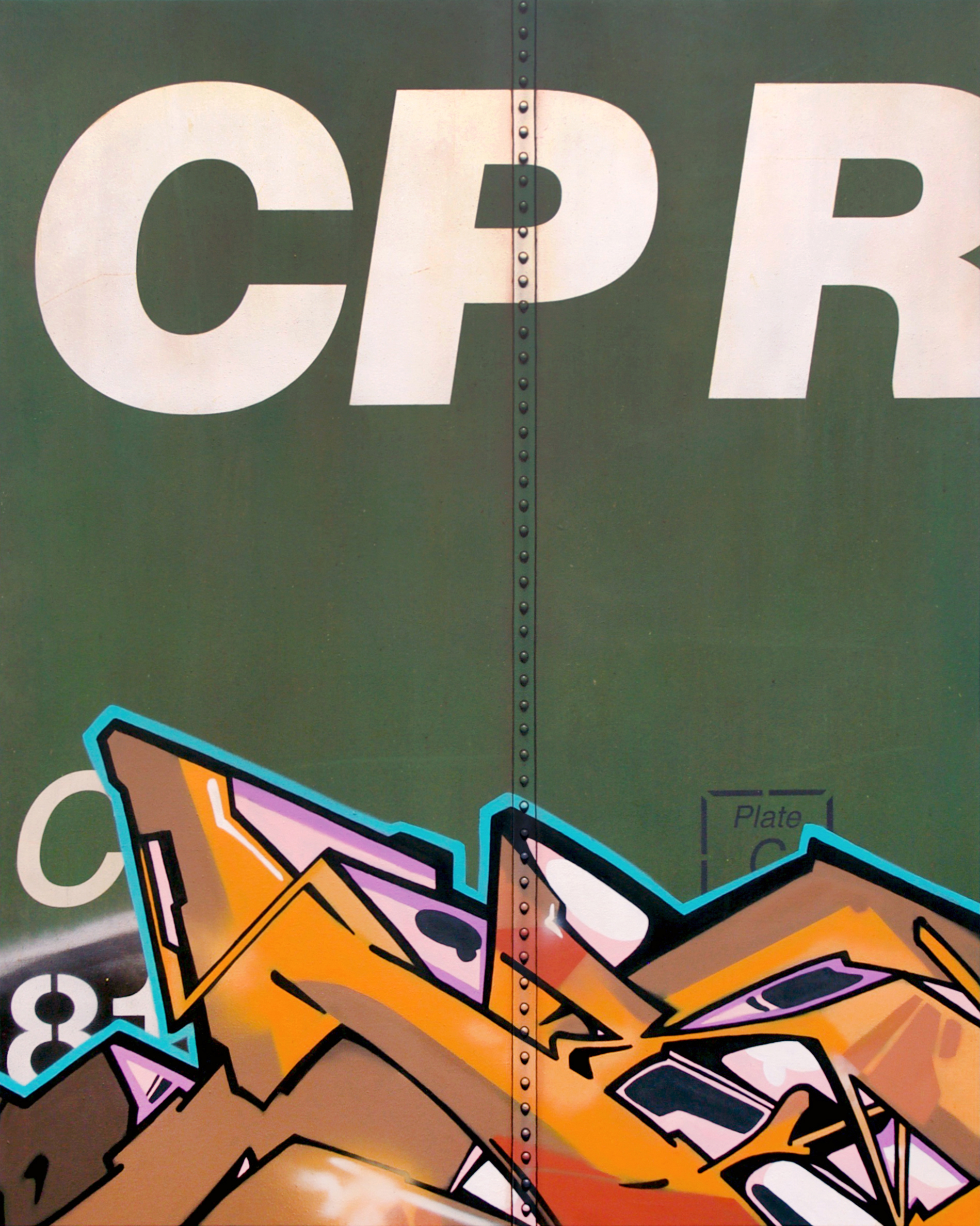 Blank Canvas #74 - CP, Freight Train Painting, Boxcar Painting, Railroad Art, Tim Conlon Art