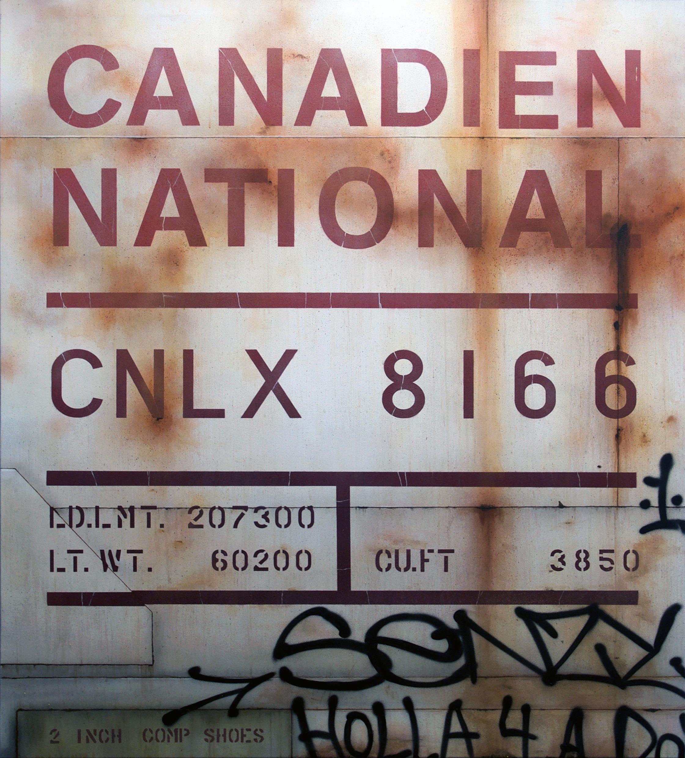Blank Canvas #77 - CNLX, Freight Train Painting, Boxcar Painting, Railroad Art, Tim Conlon Art