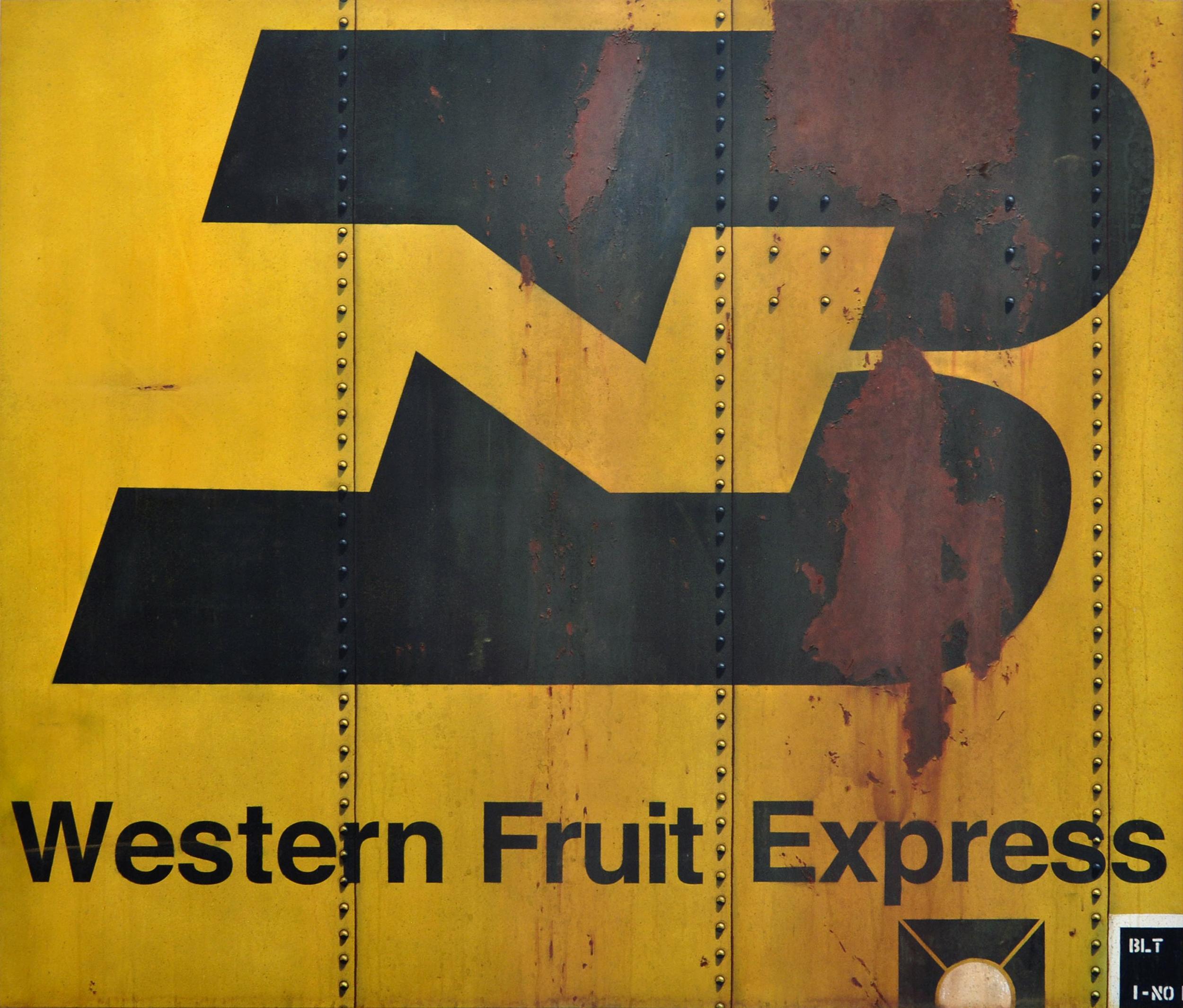 Blank Canvas #81 - BN WFE, Freight Train Boxcar Painting, Tim Conlon Art