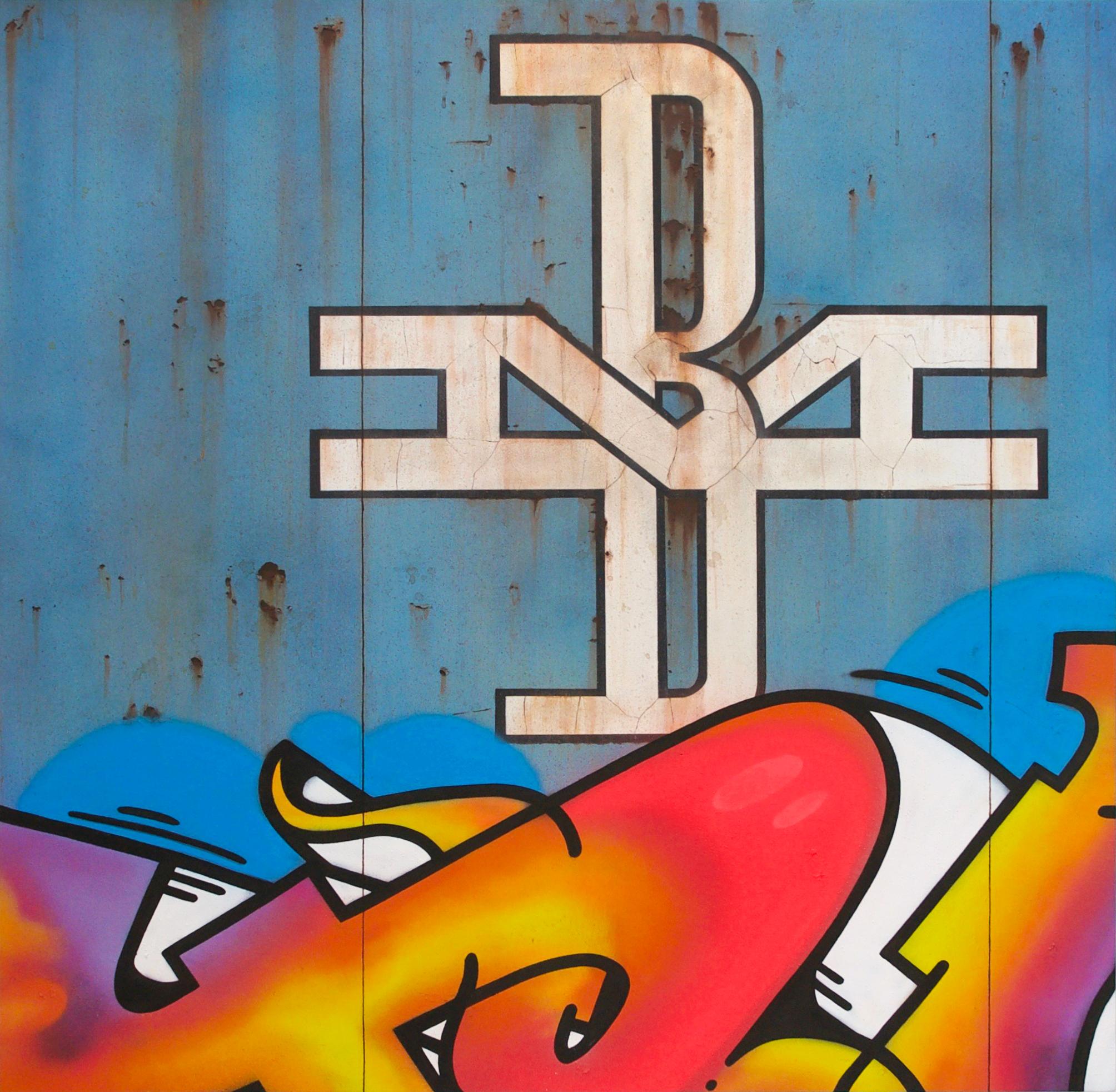 Blank Canvas #80 - B&M, Freight Train Boxcar Painting, Tim Conlon Art