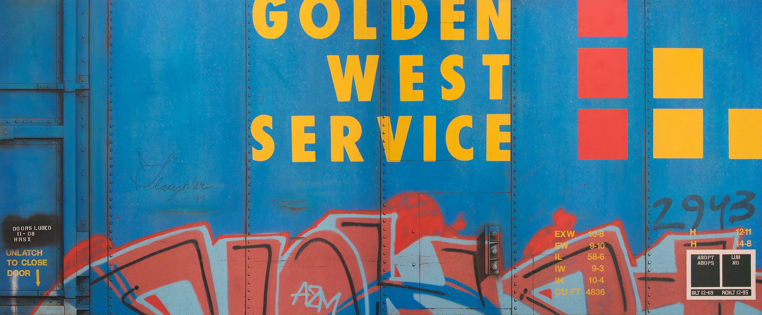 Blank Canvas #86 & 87 - GVSR, Freight Train Painting, Boxcar Painting, Railroad Art, Tim Conlon Art