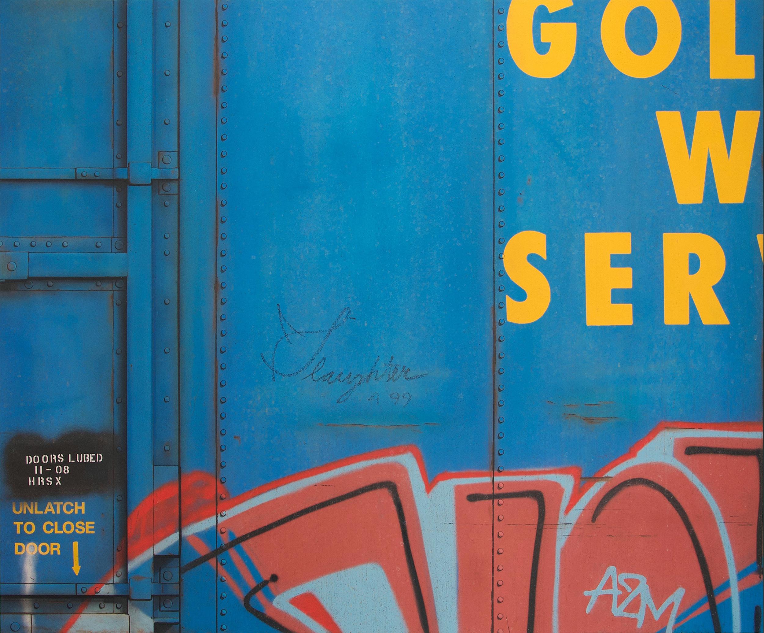 Blank Canvas #86 - GVSR, Freight Train Painting, Boxcar Painting, Railroad Art, Tim Conlon Art