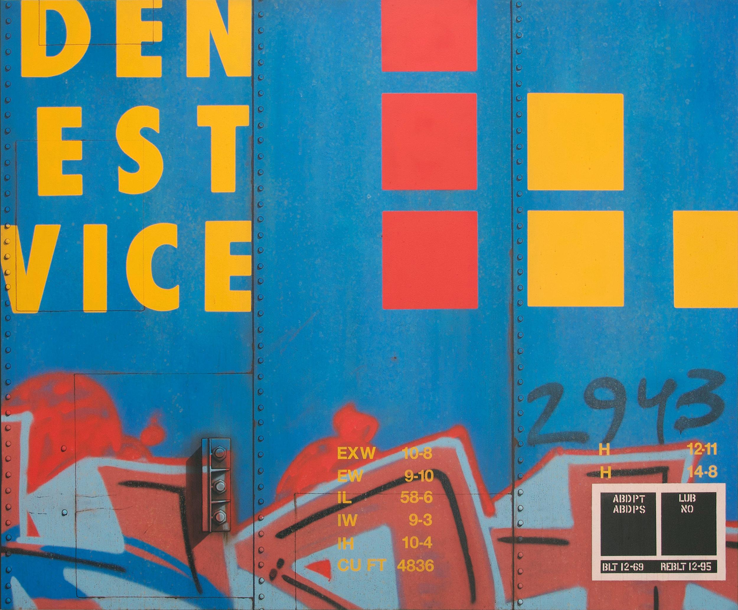 Blank Canvas #87 - GVSR, Freight Train Painting, Boxcar Painting, Railroad Art, Tim Conlon Art