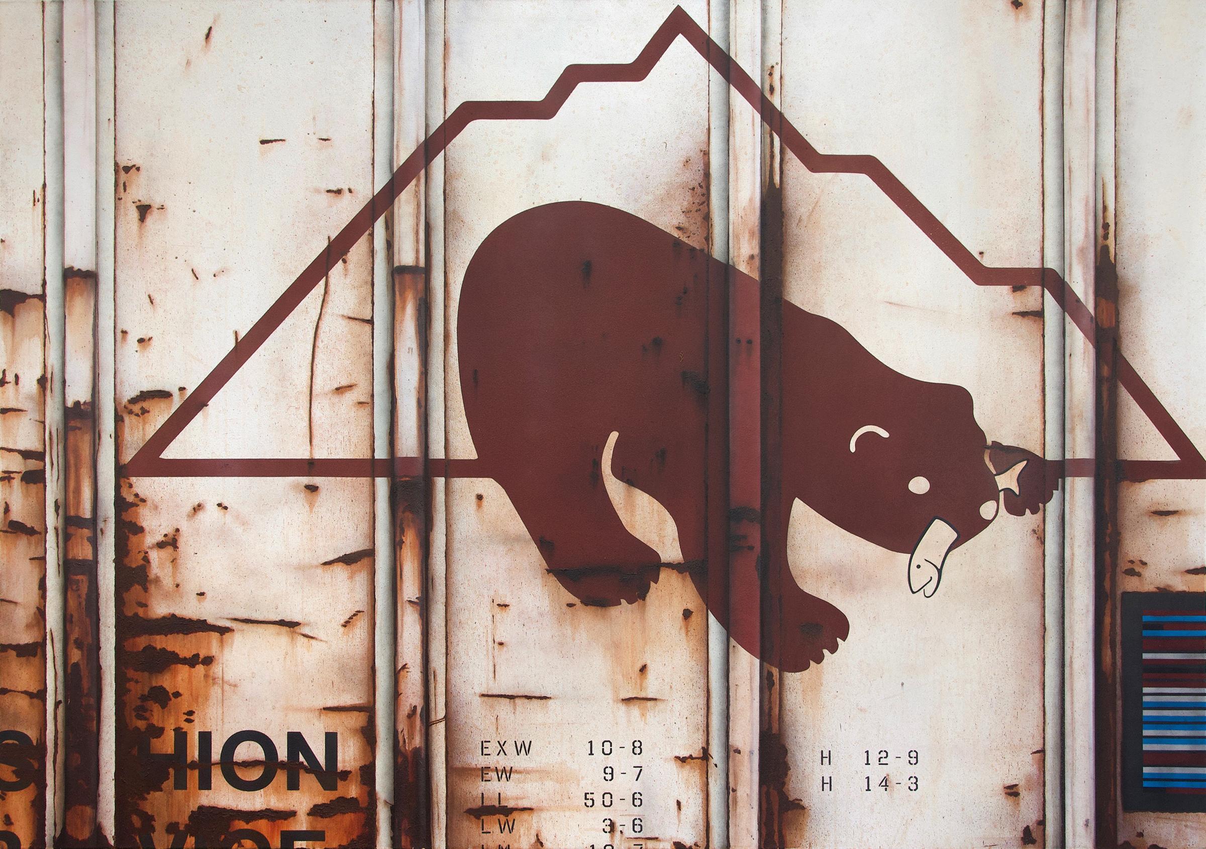 Blank Canvas #51 – McCloud, Freight Train Painting, Boxcar Painting, Railroad Art, Tim Conlon Art