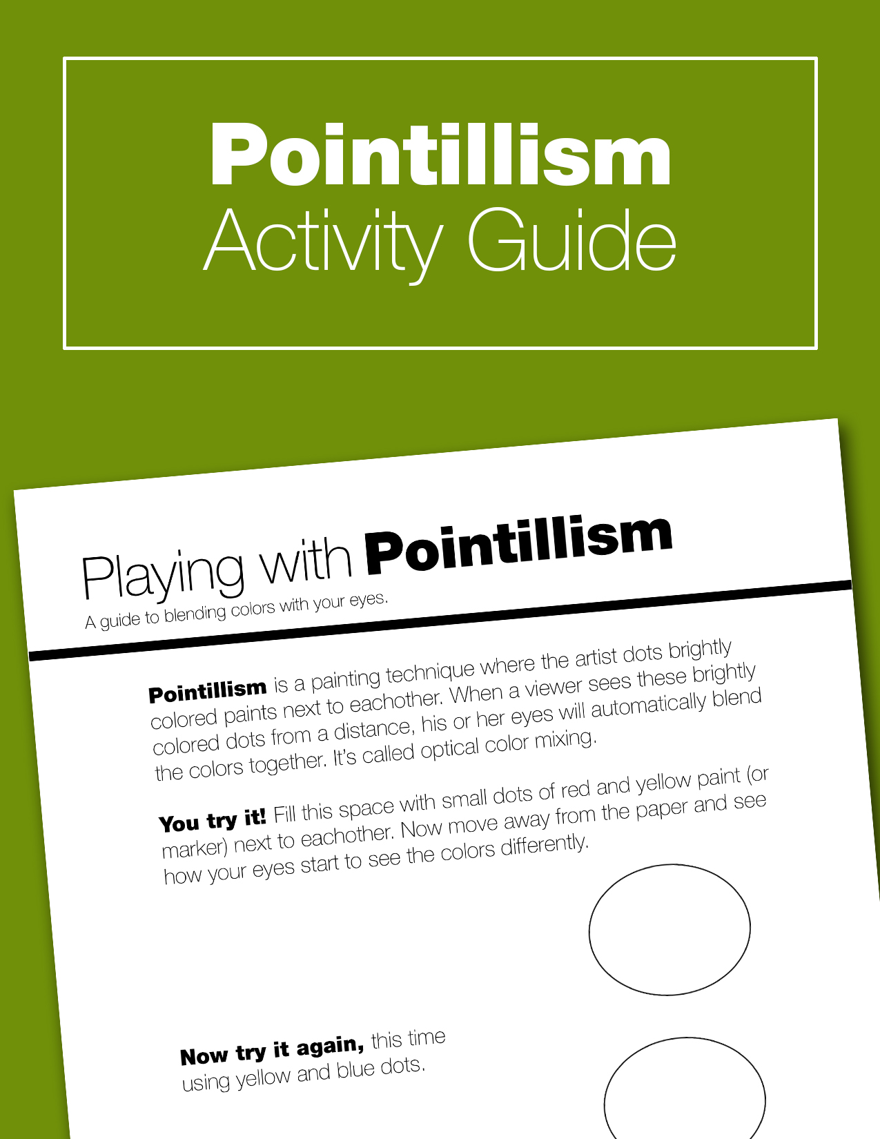 Learn through play! Explore the art of Georges Seurat, and create your own hands on painting with this pom pom pointillism activity guide.