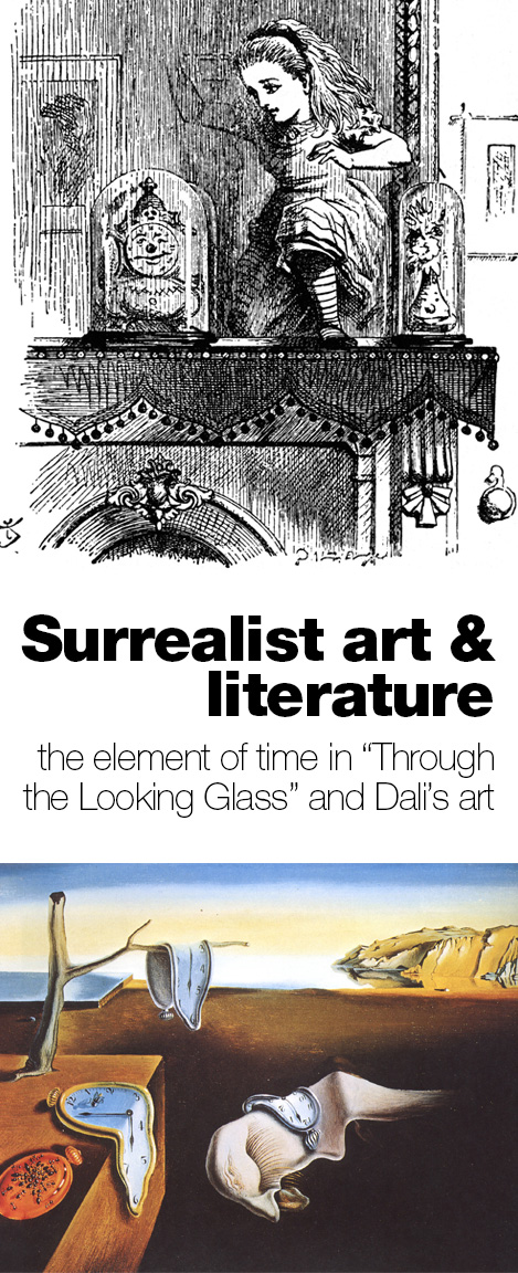 An art history unit study for kids comparing art and literature. Read Alice's Adventures in Wonderland, and Through the Looking Glass, then study some similarities in Surrealist art.