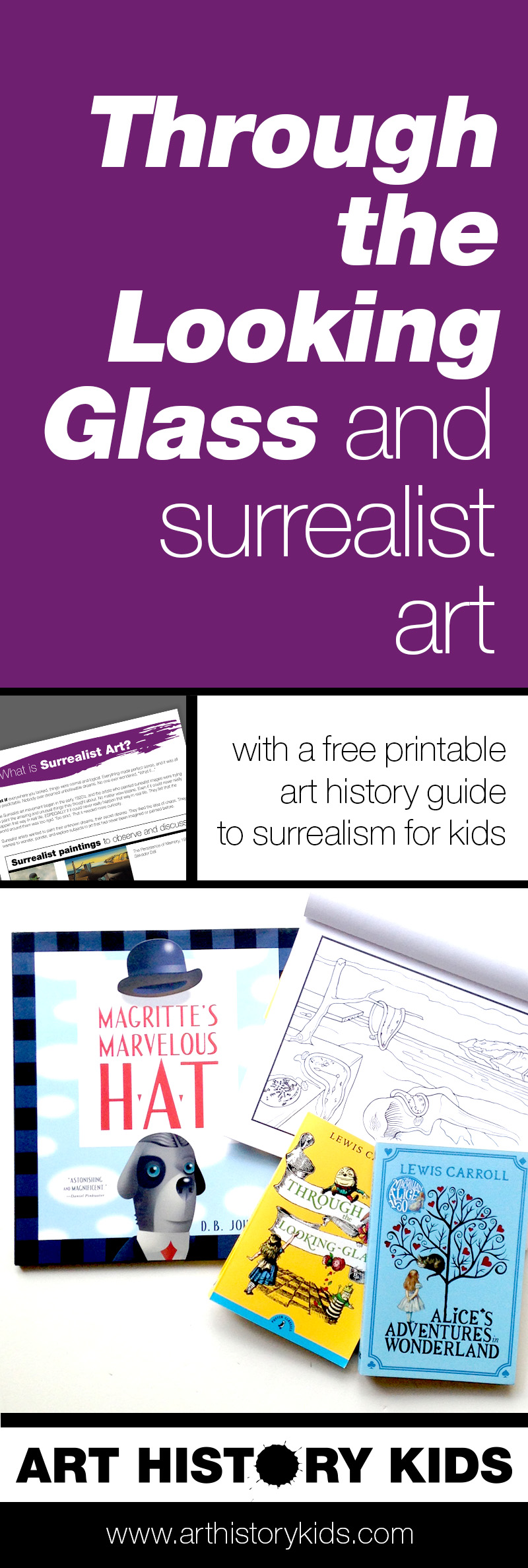 Have you read Alice's Adventures in Wonderland or Through the Looking Glass? Follow up with this fun art history project for kids, and unlock all the amazing similarities between the stories and some very famous surrealist paintings.