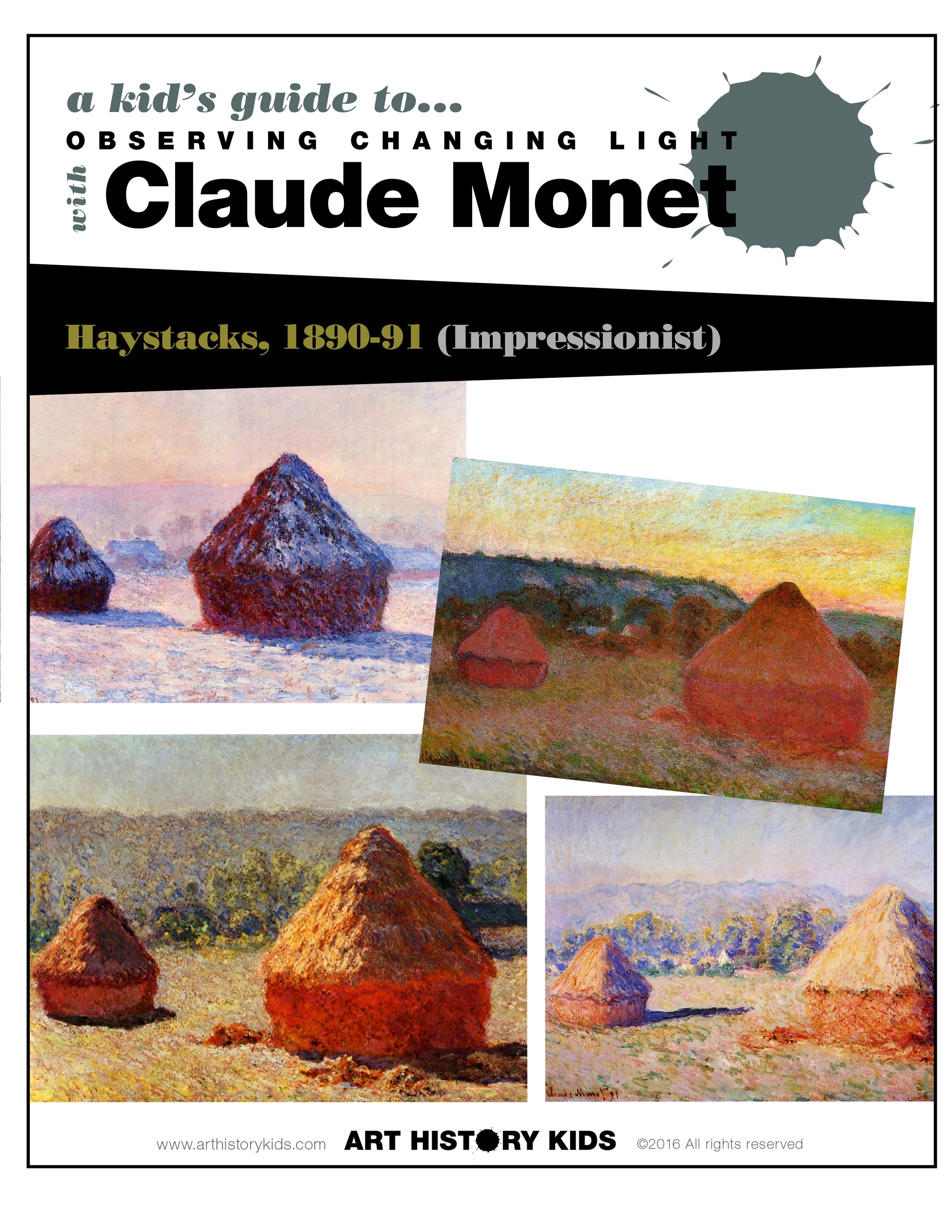 Introduce your kids to Impressionist art and Monet's Haystacks. Explore Art History at home with your kids through fun hands on projects, games, and book recommendations.