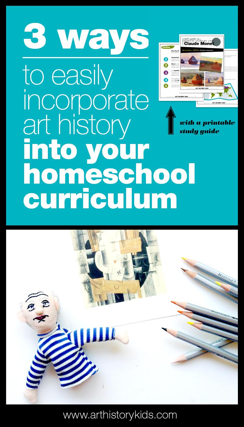 Homeschool art history curriculum planning made easy