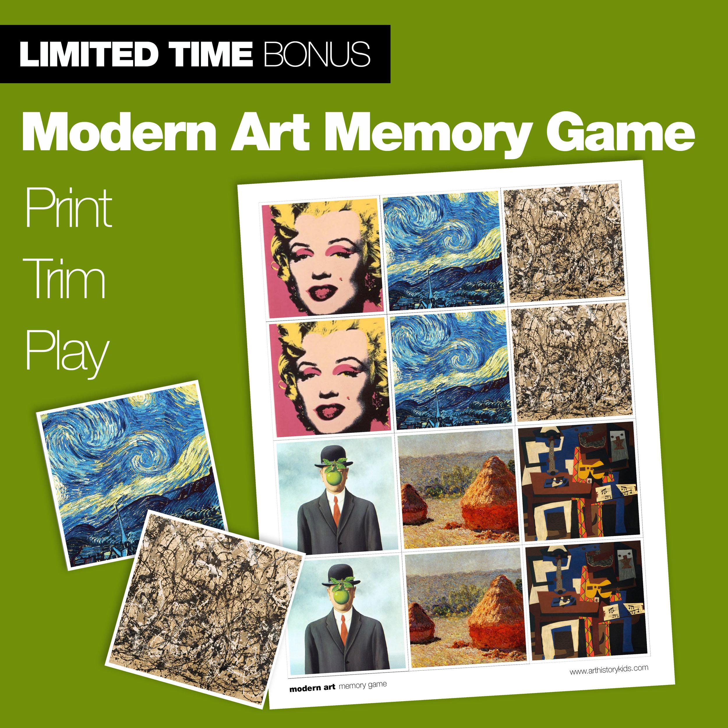 The Modern Art Memory Game
