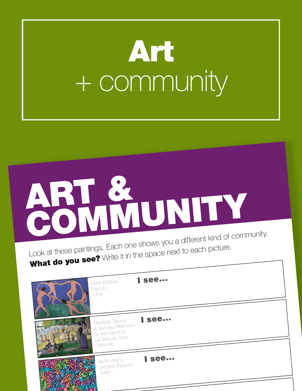 Art History Lesson and Guided Picture Study. Learn about community!
