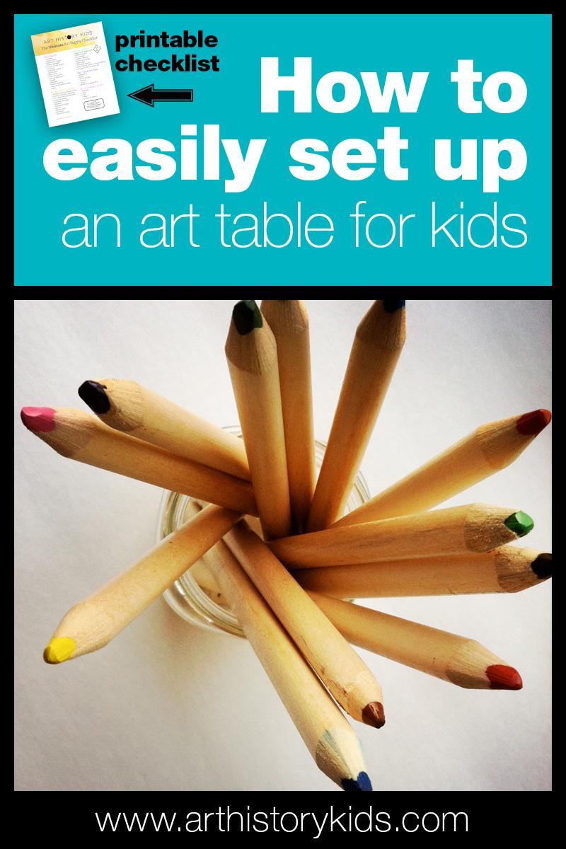 How to set up an art area for kids | Homeschool art ideas