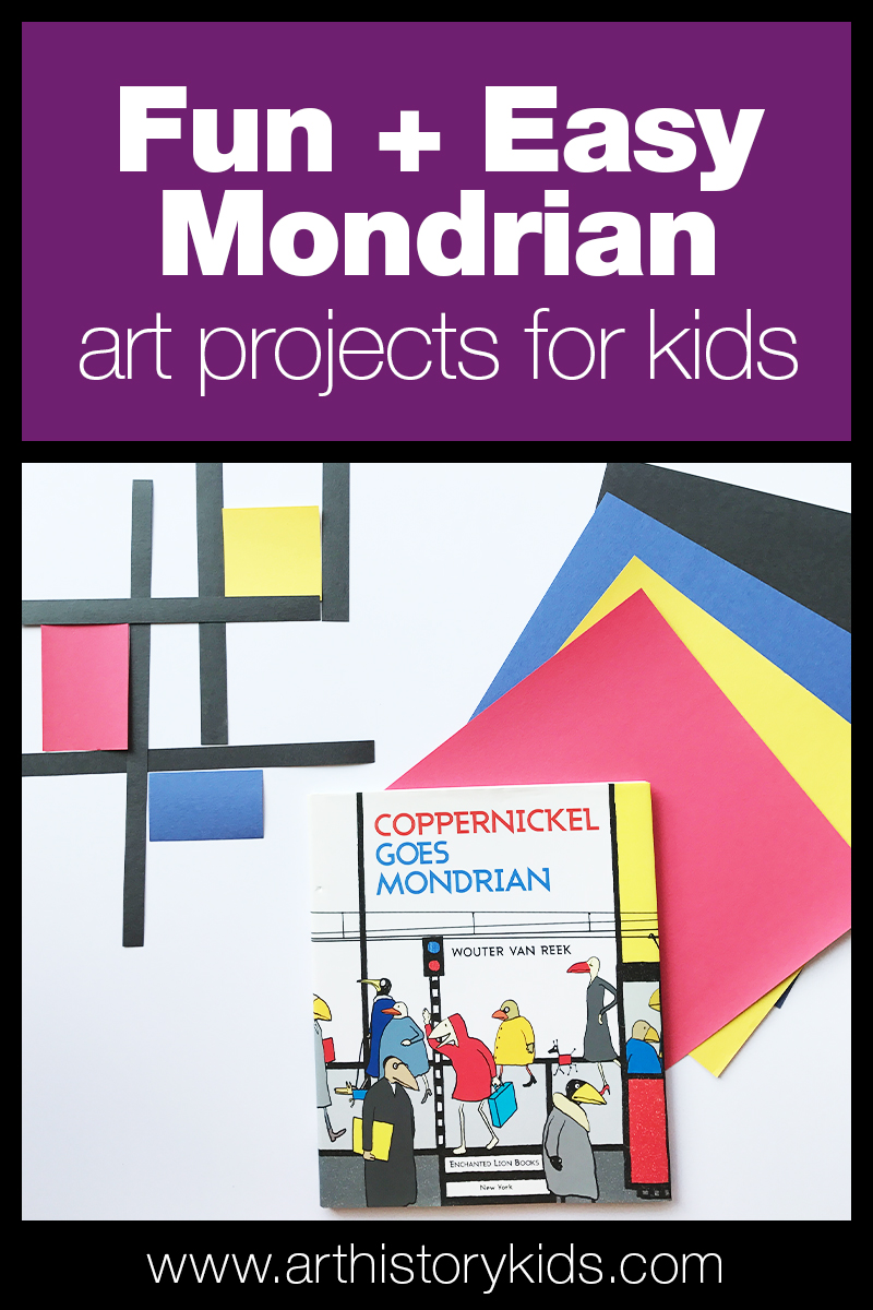 Mondrian Art Projects | Famous Artists for Kids | Homeschool Art Ideas