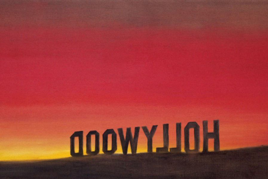 Ed Ruscha .  Back of Hollywood,  1977  Courtesy Collection of Musée d'art contemporain de Lyon
