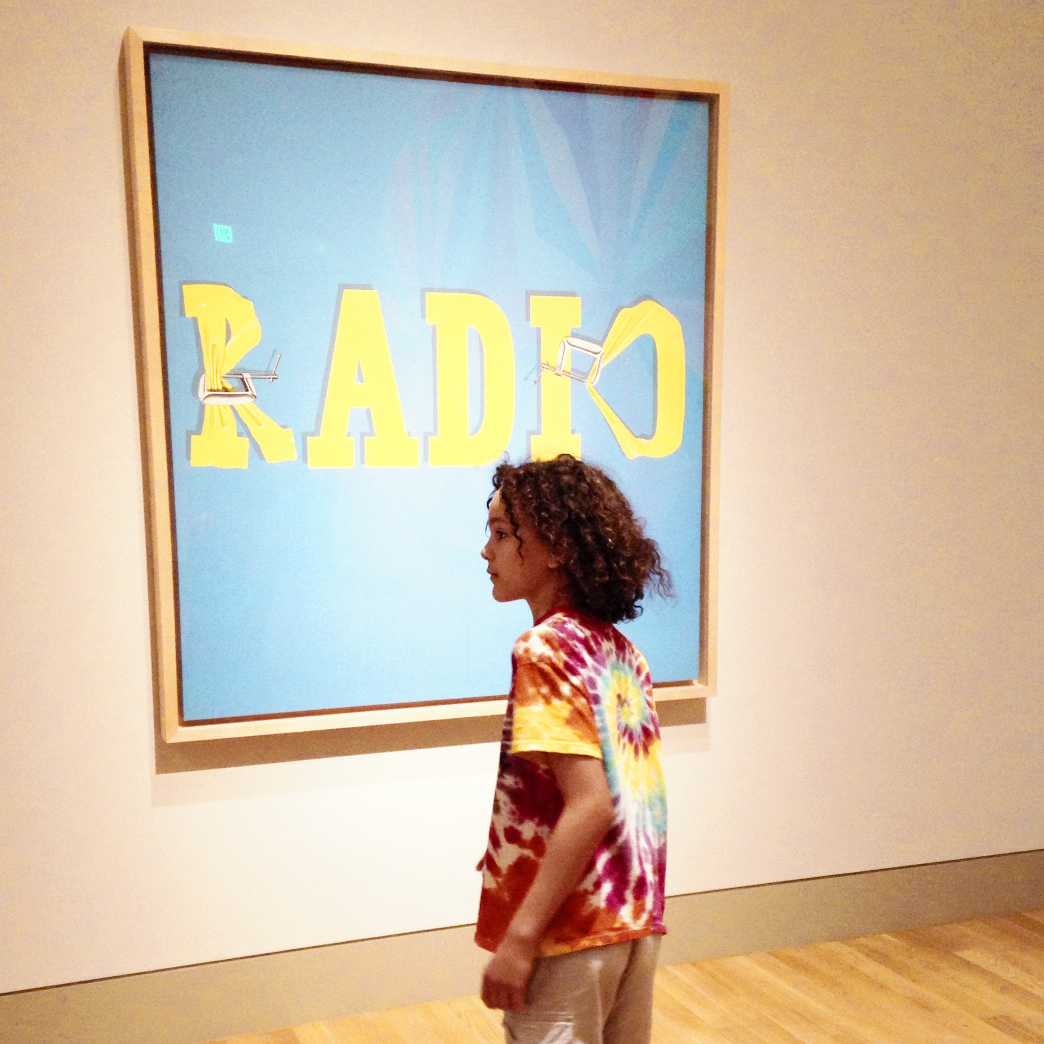 Edward Ruscha,  Hurting the Word Radio #2 , 1964  Collection of Joan and Jack Quinn, Beverly Hills, Calif.