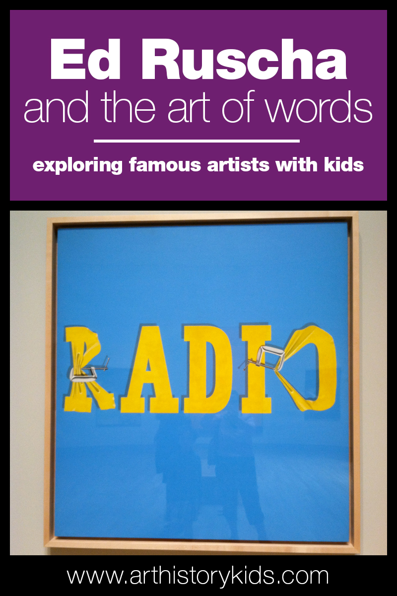Famous Artists for Kids | Edward Ruscha Homeschool Art Lesson