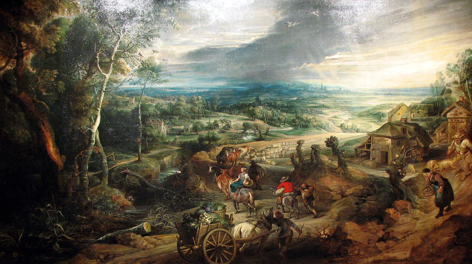 Summer, Peasants going to Market, Peter Paul Rubens
