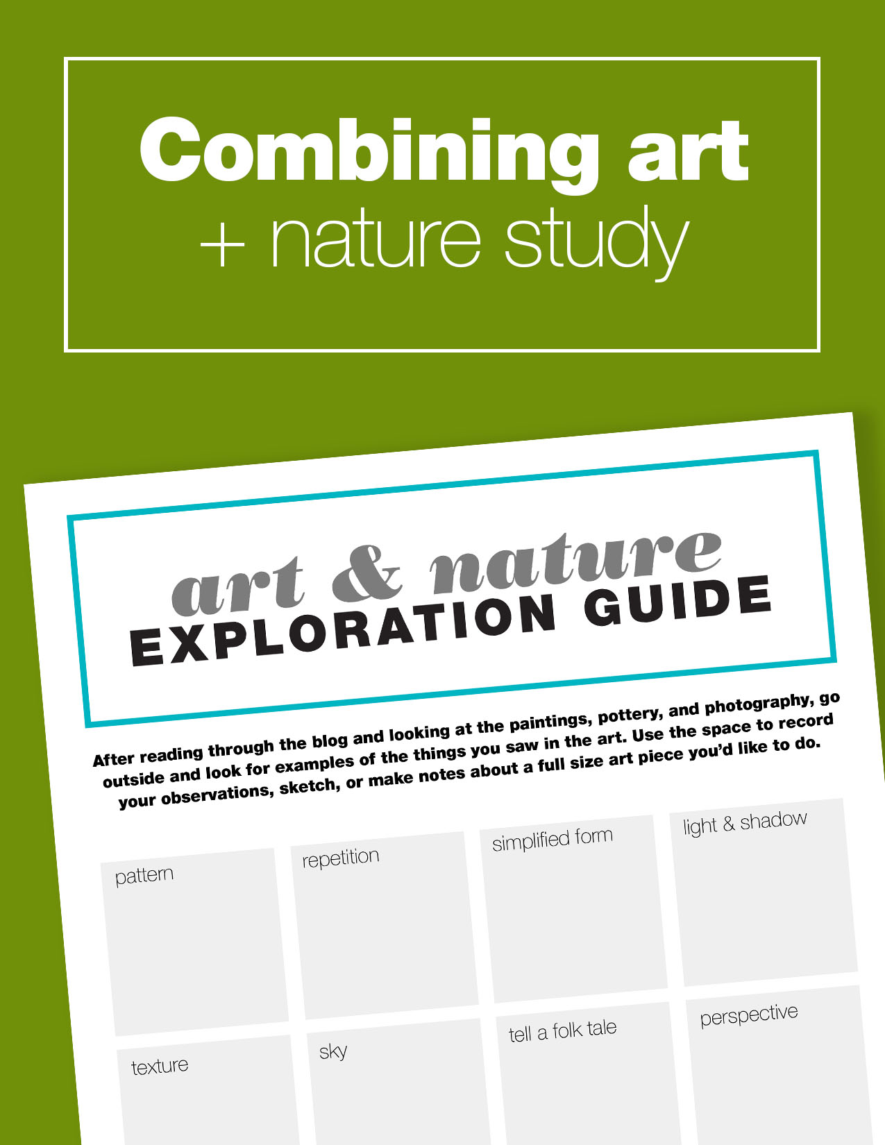 Free printable guide to lead you through an art history and nature study lesson for kids.