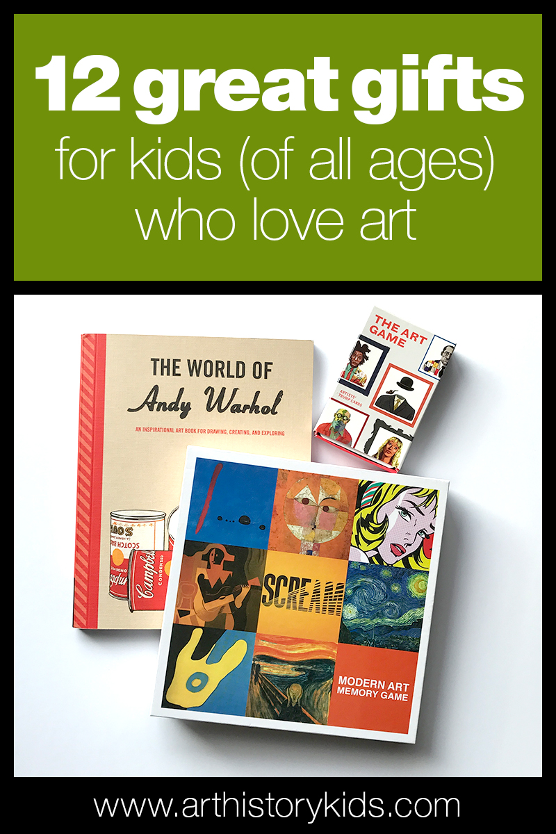 Holiday gift guide for kids who love to do art.