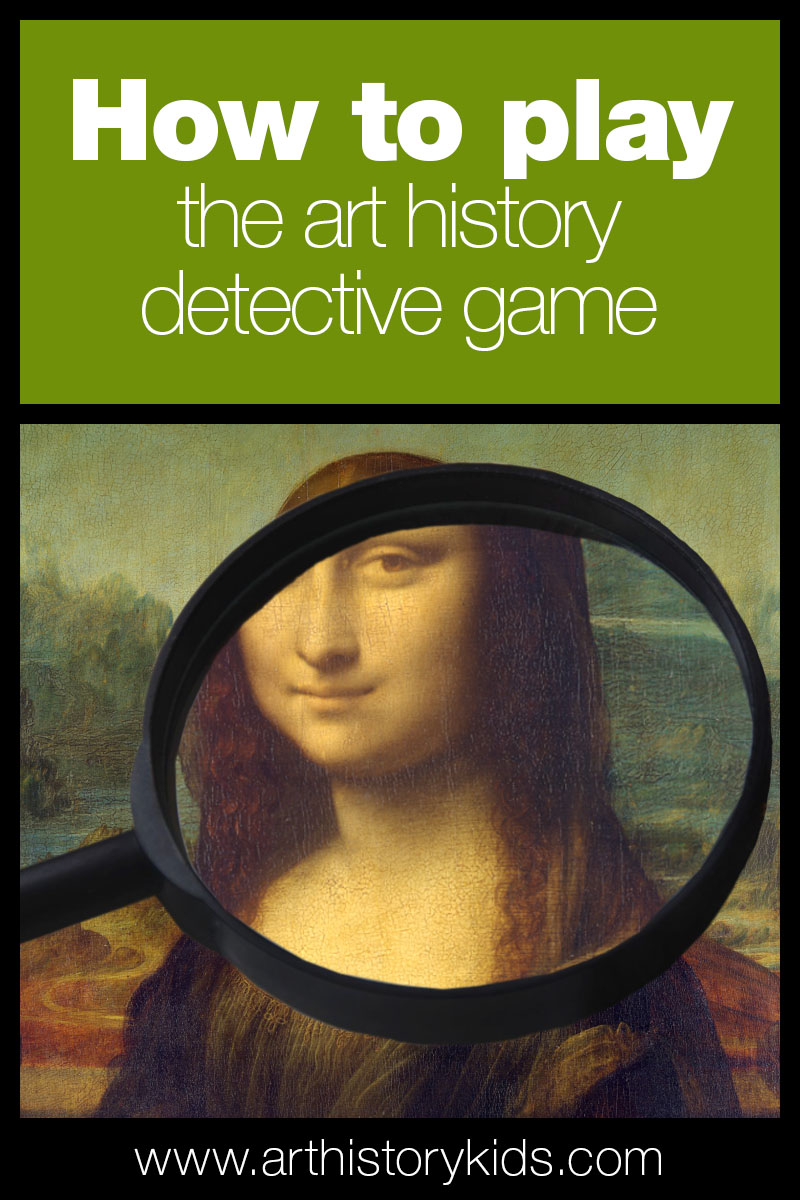 Play the art history detective game with your kids! Download the free printable project guide and have fun!