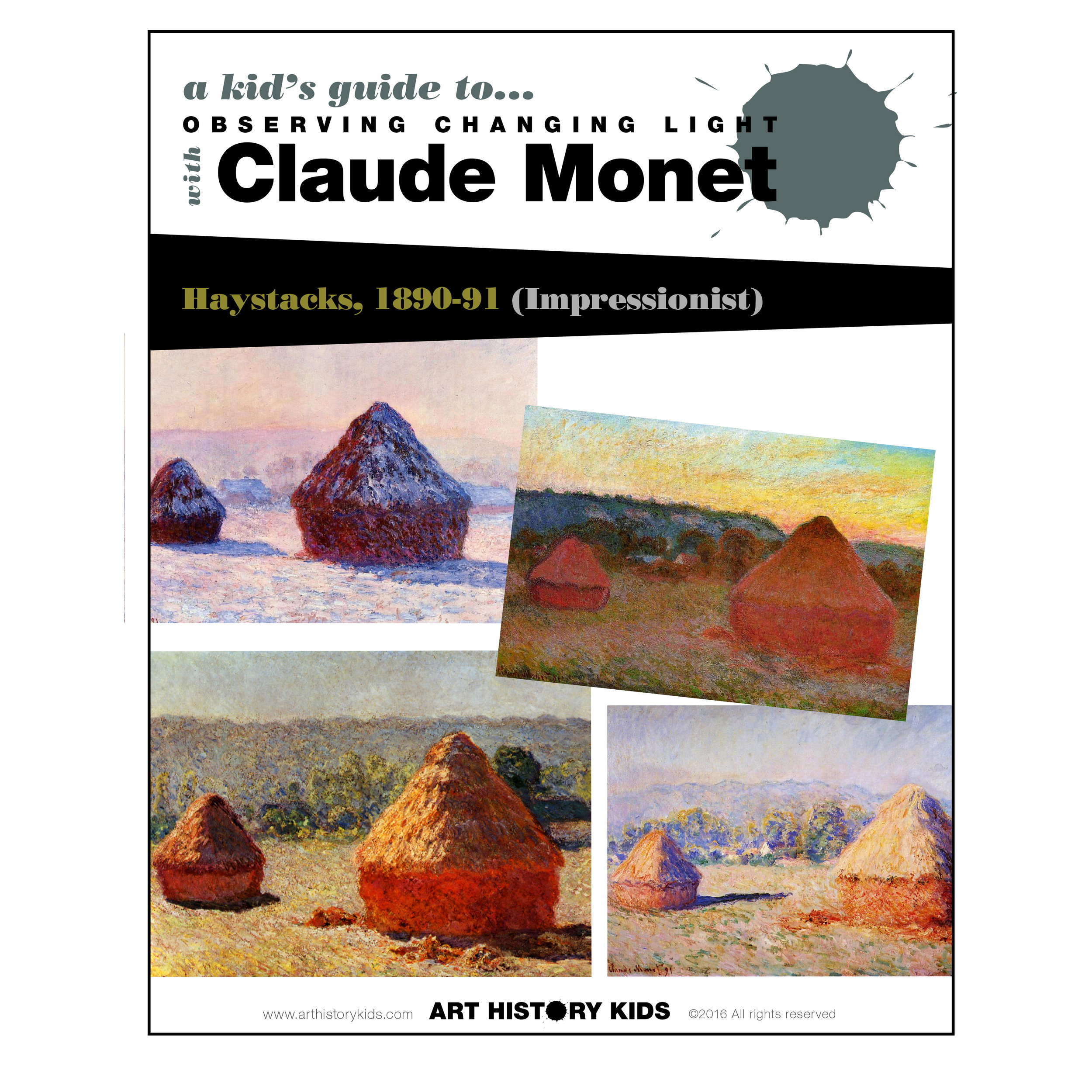 Fun and free Monet Guide for studying Impressionism with kids.