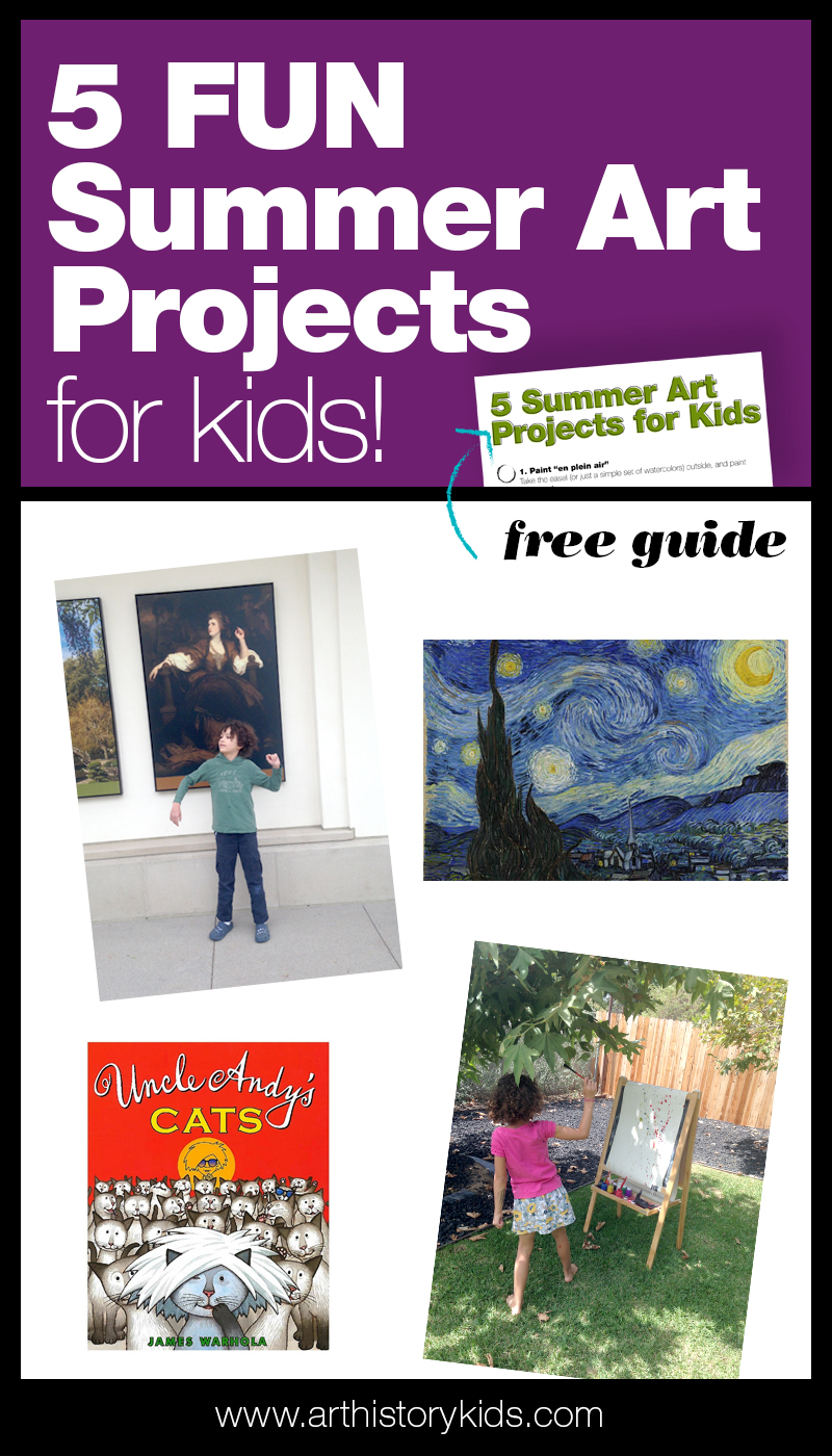 Summer Art Projects for kids– paint the stars, create paper art, read storybooks about famous artists and more this summer! Includes instant downloads with lesson plans!
