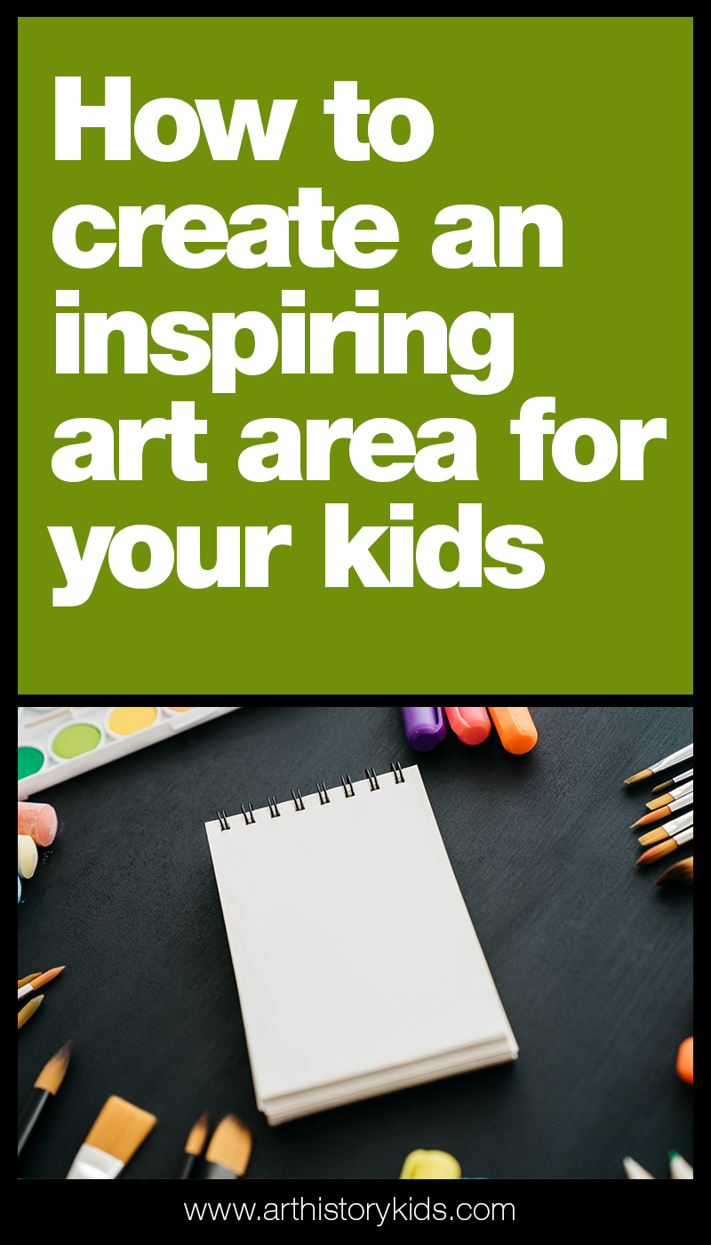 Get ready for a fun year of homeschool art with your kids. This video explains how you can set up a great art area at home for your kids!