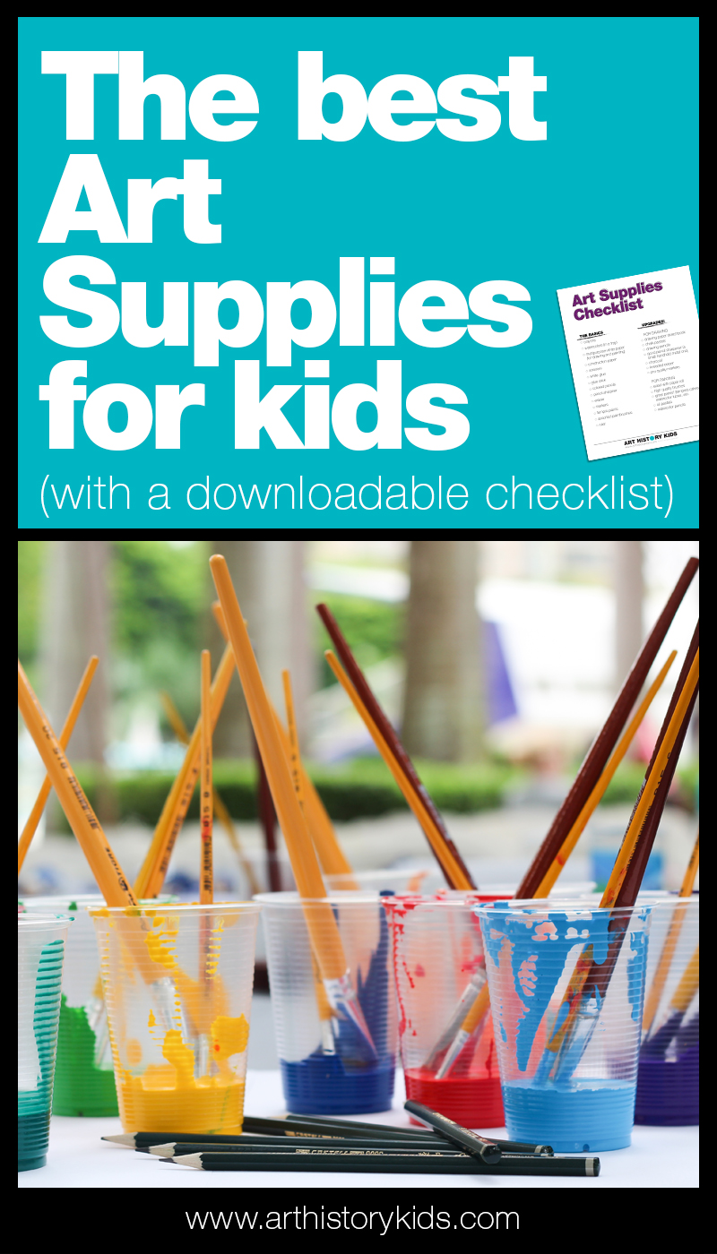 All about art supplies for kids! How to take your homeschool art area to the next level with materials that will take your homeschool art projects and art lesson plans to the next level.