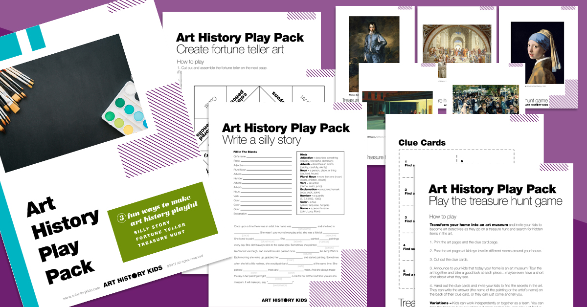 Making art history playful and fun! Make a game out of studying famous artists with your kids.