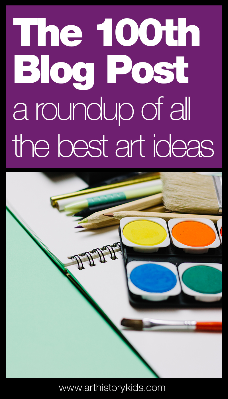 Art history lesson plans for kids including famous artists, fun book reviews, and art projects everyone will love!