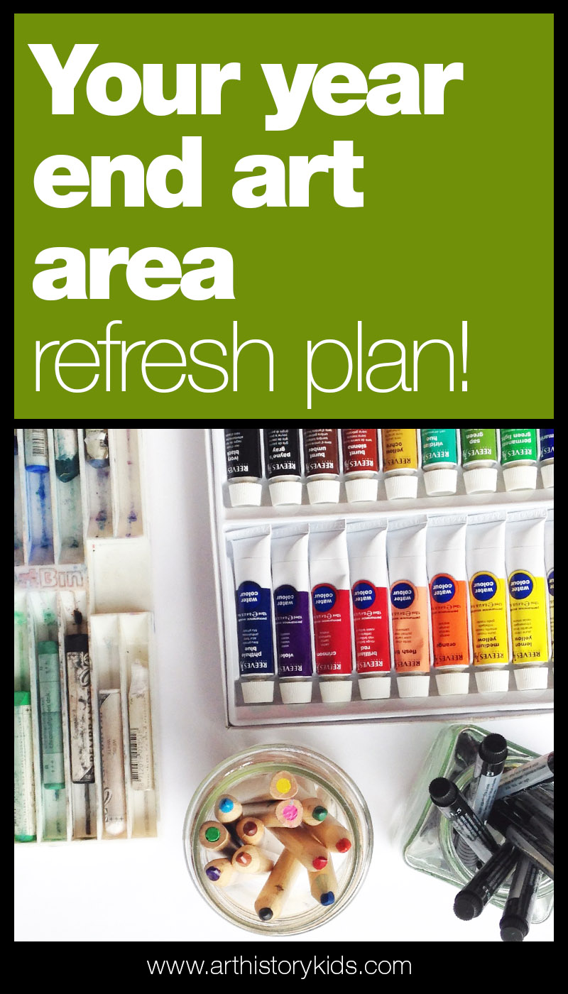 Art areas for kids. Simple tips to set up or refresh your kids art area.