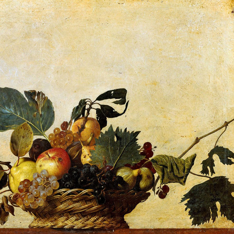 Caravaggio,   Basket of Fruit,  1596 //November 2017
