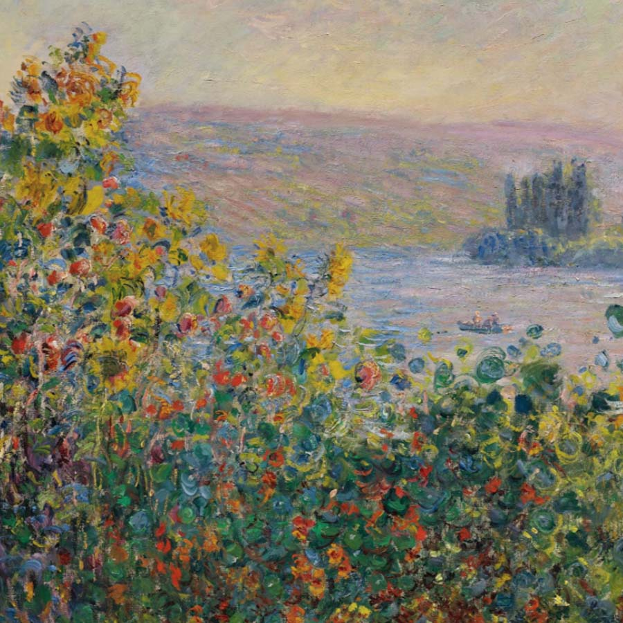 Claude Monet,   Flower Beds at Vetheuil,  1881 //July 2017