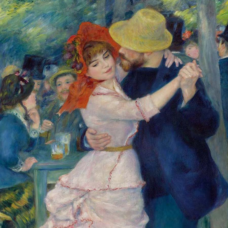 Pierre-Auguste Renoir,   Dance at Bougival,  1883 //September 2017