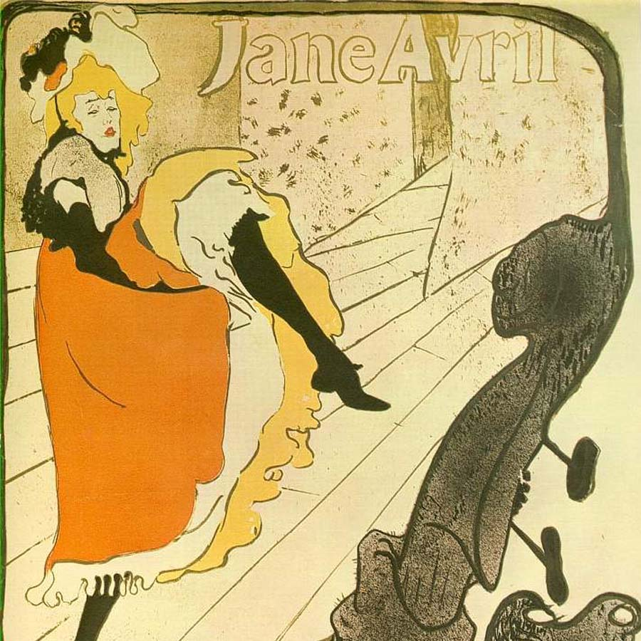 Henri de Toulouse-Lautrec,   Jane Avril,  1893 //September 2017