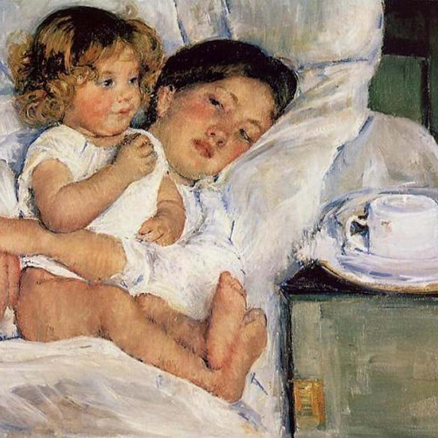 Mary Cassatt,   Breakfast in Bed,  1897 // April 2017