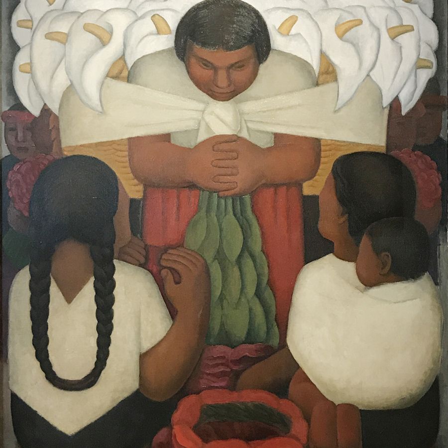 Diego Rivera,   Flower Day,  1925 // July 2017