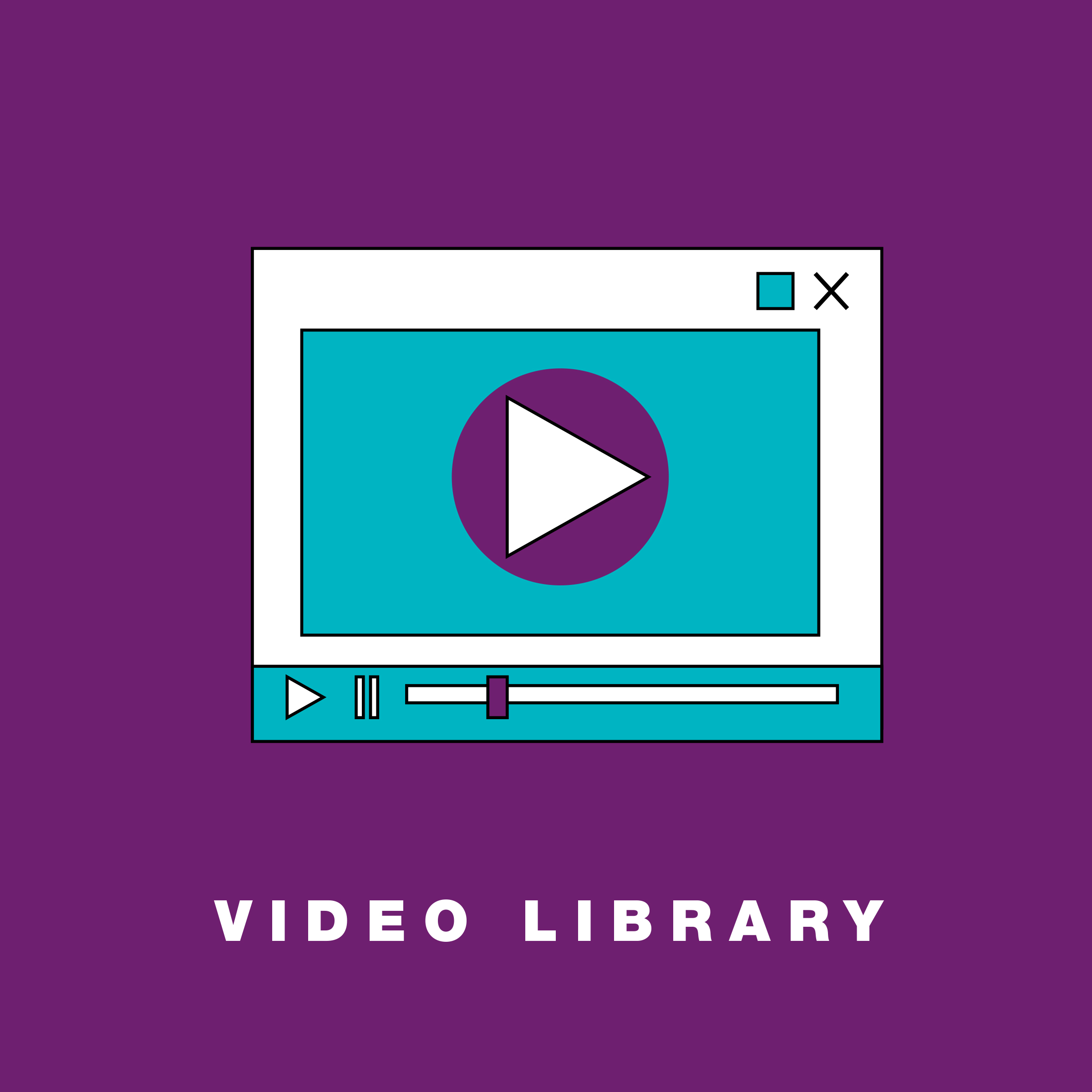 A growing video library featuring demos and tutorials. -