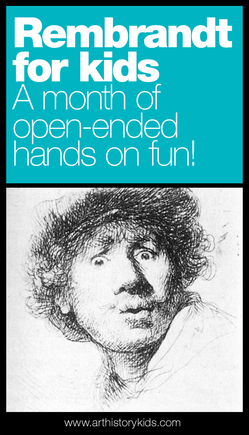 Explore Rembrandt's art with your kids. A full month lesson plan perfect for homeschool art!