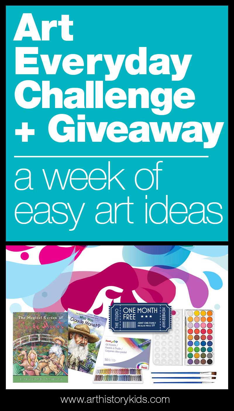 Easy art lesson plans. Homeschool art activity ideas. Art projects for kids.