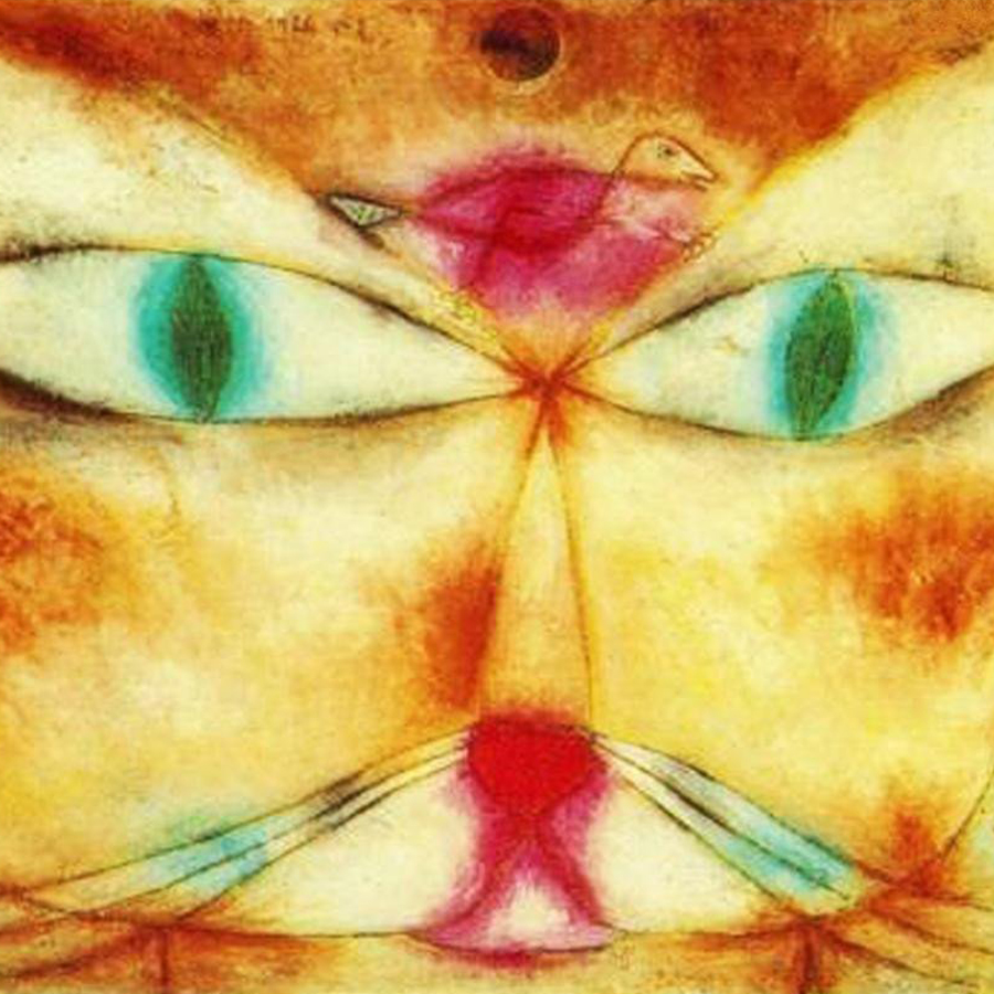 Paul Klee,   Cat and Bird,  1928 // January 2018