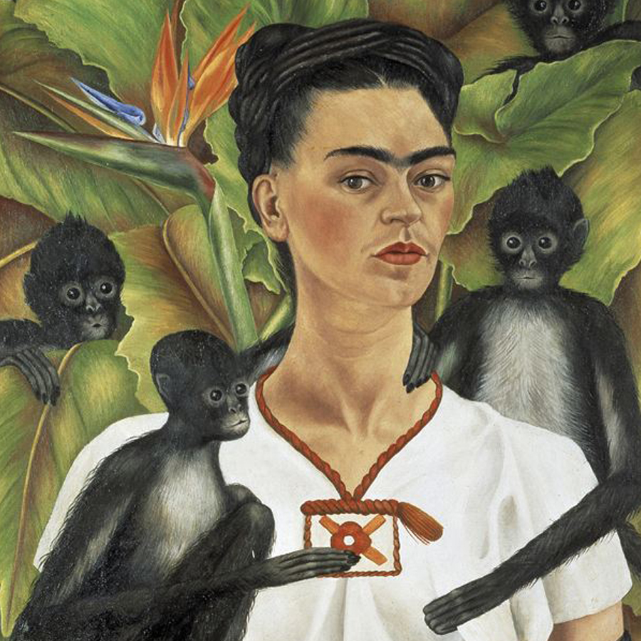 Frida Kahlo,   Self Portrait with Monkeys,  1943 // January 2018