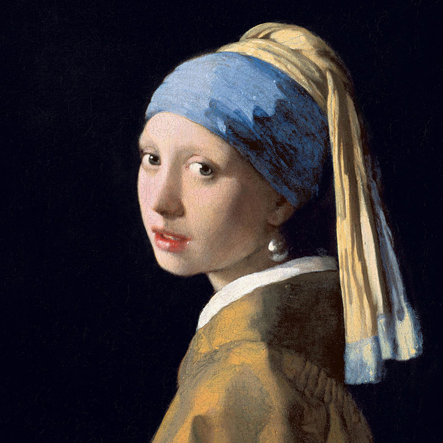 Johannes Vermeer,   Girl with a Pearl Earring,  1665 //March 2018