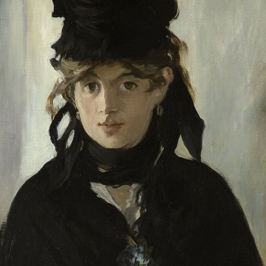 Edouard Manet,   Berthe Morisot with a Bouquet of Violets,  1872 //March 2018