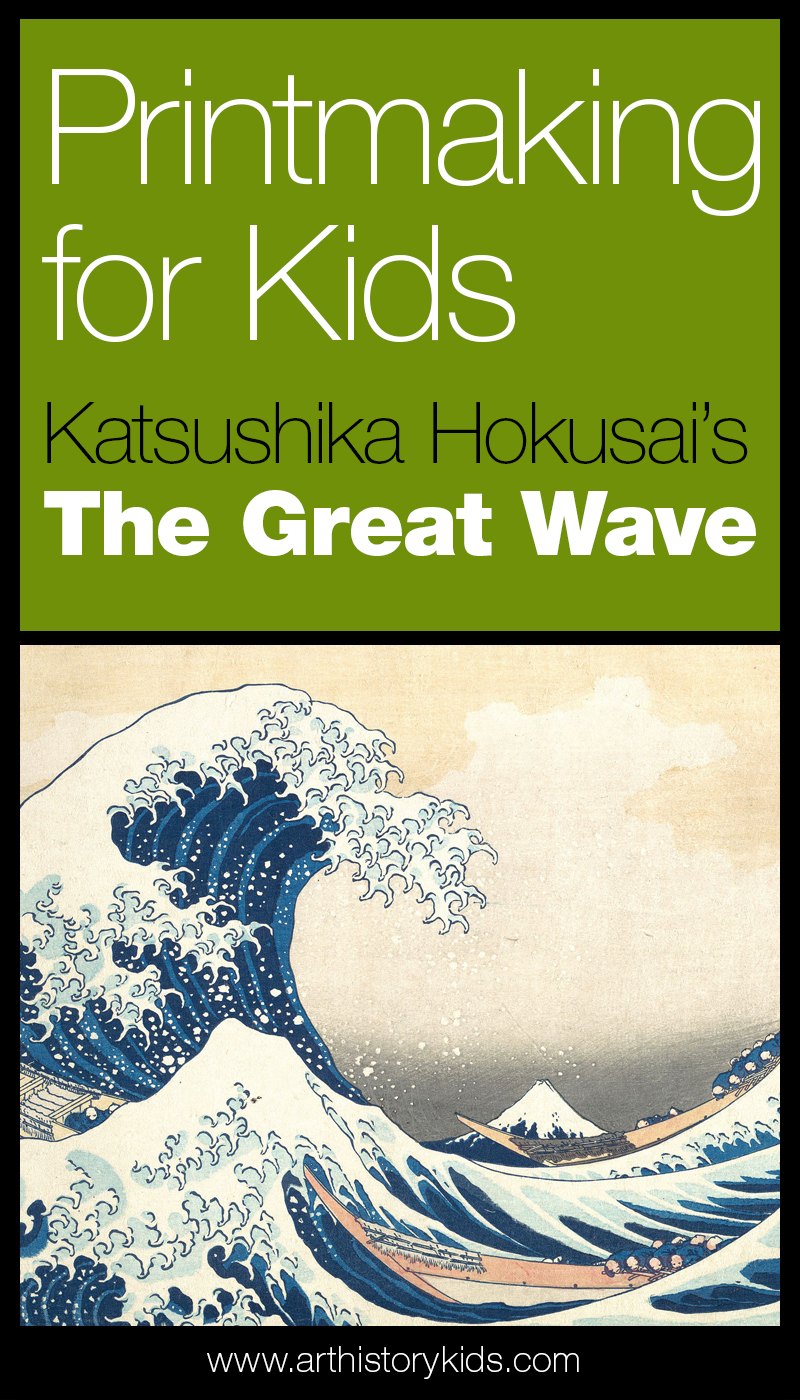 Art Appreciation for kids – Take a look at Katsushika Hokusai's The Great Wave – a unit study on printmaking and Japanese art for kids